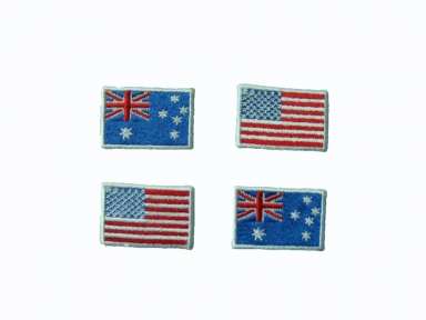 customized national flags emborideriy patch