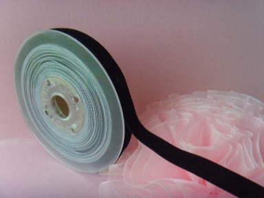 Double Side Black Velvet Ribbon