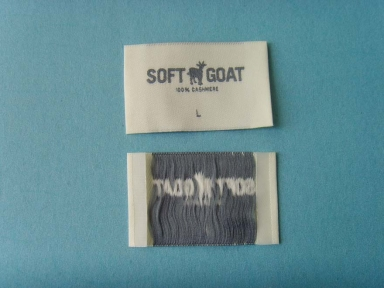 end folded polyester woven label