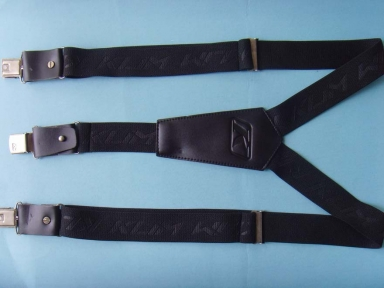 Y shape black elastic suspenders