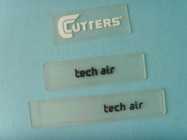 transparent rectangle rubber badges