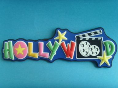 hollywood letters 3d rubber badges