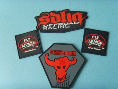 3D embossed rubber badge
