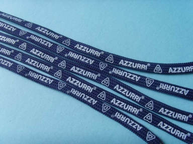 navy blue hollow flat ropes with printing logo