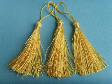 polyester decorative yellow tassels