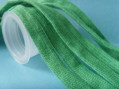 green cotton tubular flat ropes