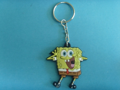 spongebob rubber key pendant
