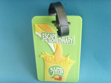 green 3d rubber badge id holder
