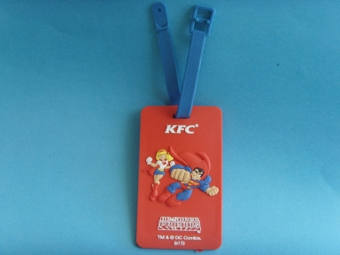 superman rubber badge name holder