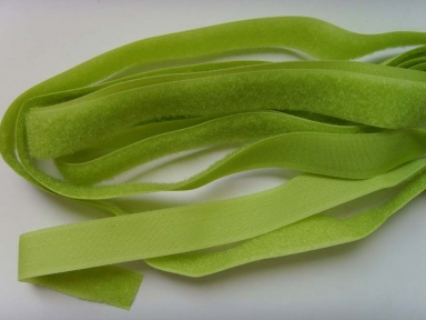 Soft green nylon hook and loop fastener tape