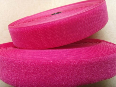 25mm rose red nylon hook and loop tape