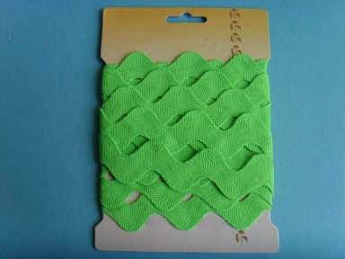 20mm green polyester ricrac ribbons with custom packaging