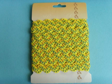 yellow leaf polyester ricrac cords