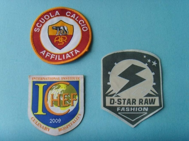 custom polyester woven patch for unifrom