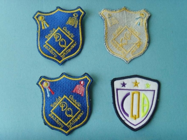 cheap custom full embroidered patch for polo