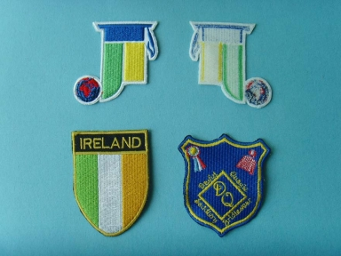 custom Blue DQ and Ireland embroidery patch