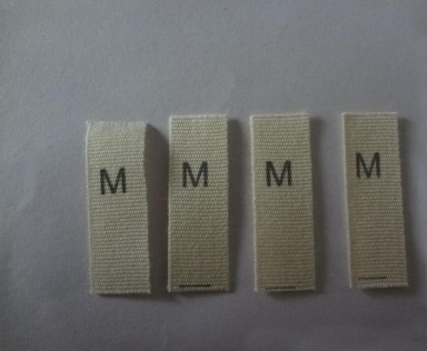 natural white cotton size label for garment