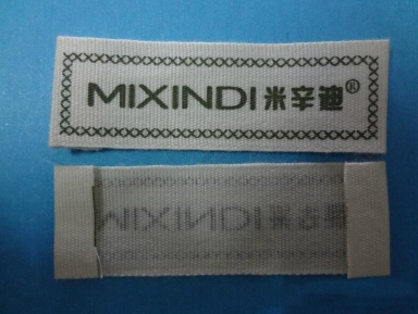 white neck end folded tags for clothing