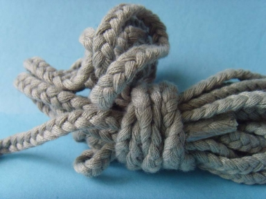 T/C gray braid flat rope for garment