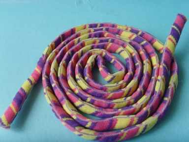 Soft colourful flat nylon rope for clothing