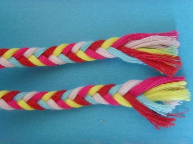 5 colours braid flat rope for garment