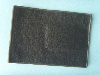 black genuine leather patch with low MOQ