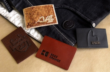 custom high quality leather label/patch