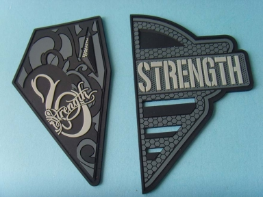 hypalon rubber badge for clothes