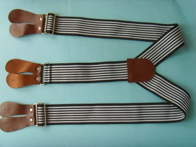 custmoized stripe leather suspender for kids